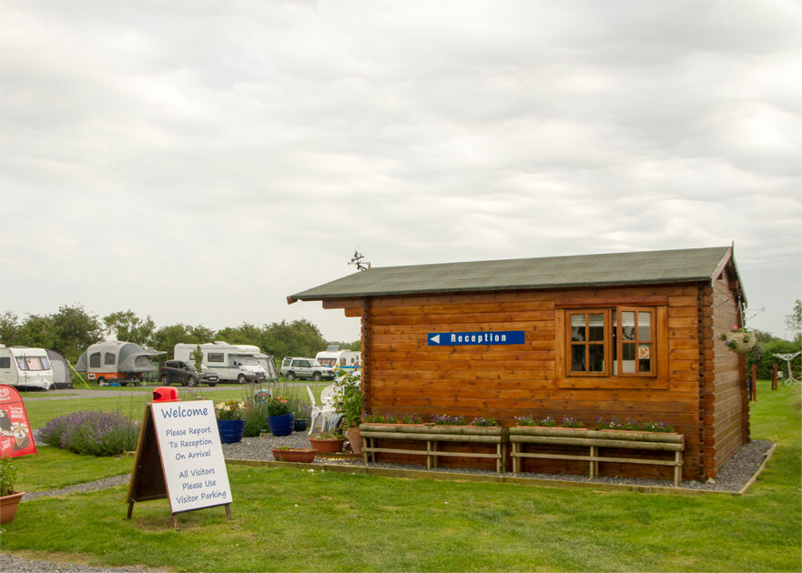 Withy Water Camping Reception Area