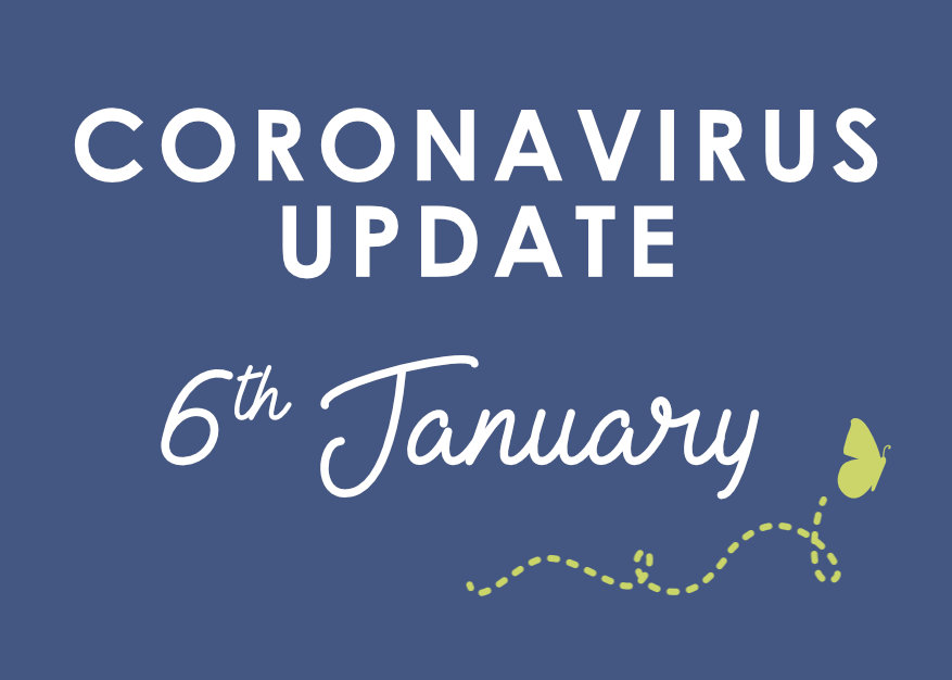 Withy Water Coronavirus Update 6th January 2021